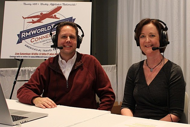 Robert and Mary Carey, hosts of WKMI's RMWorld Travel show, Sundays at 4pm.